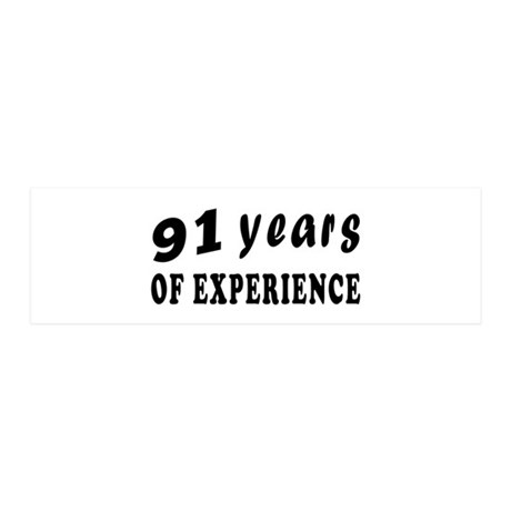 91 years birthday designs 20x6 Wall Decal