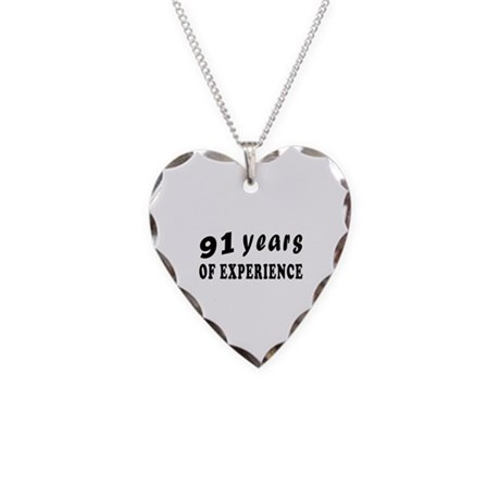91 years birthday designs Necklace Heart Charm