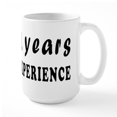91 years birthday designs Large Mug