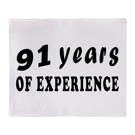 91 years birthday designs Throw Blanket