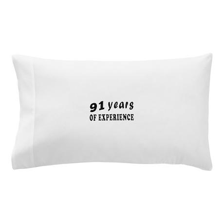 91 years birthday designs Pillow Case