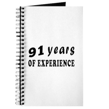 91 years birthday designs Journal