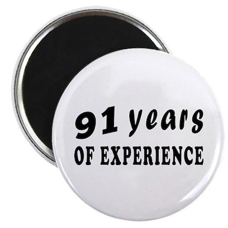 "91 years birthday designs 2.25"" Magnet (10 pack)"