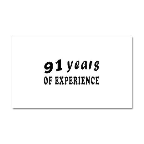 91 years birthday designs Car Magnet 20 x 12