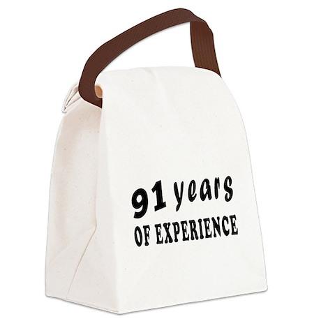 91 years birthday designs Canvas Lunch Bag