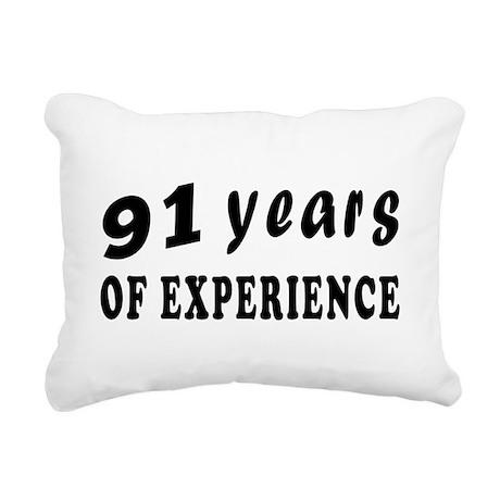 91 years birthday designs Rectangular Canvas Pillo