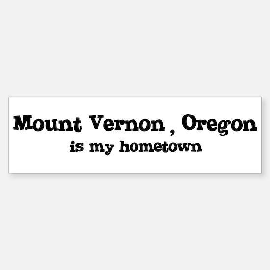 Mount Vernon - Hometown Bumper Bumper Bumper Sticker