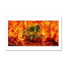 Burning skull Car Magnet 20 x 12