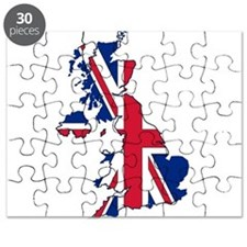 UK Outline and Flag Puzzle