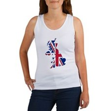 UK Outline and Flag Tank Top