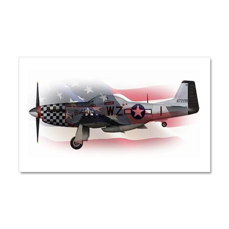 P-51 Mustang Car Magnet 20 x 12