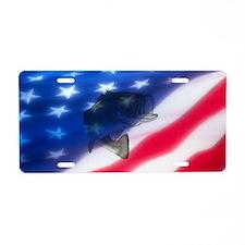 Bass America Aluminum License Plate