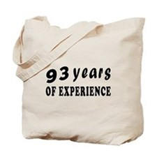 93 years birthday designs Tote Bag