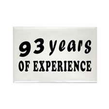 93 years birthday designs Rectangle Magnet
