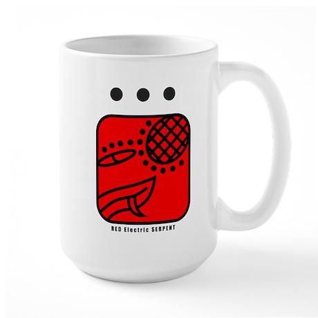 RED Electric SERPENT Large Mug