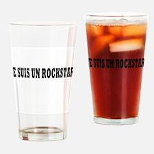 Rock Star Bold Black Drinking Glass