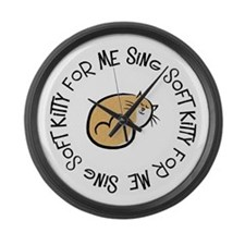 Sing Soft Kitty Large Wall Clock