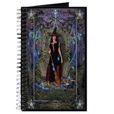 Witches Spellbook Journal - Moon Witch and Dragon