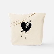 Black Bloody Heart Tote Bag