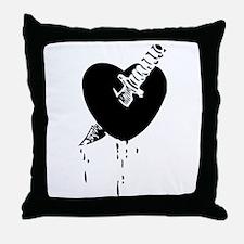 Black Bloody Heart Throw Pillow