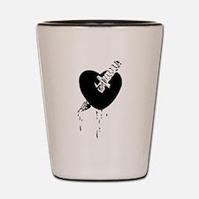 Black Bloody Heart Shot Glass
