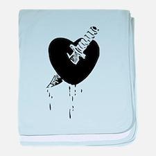 Black Bloody Heart baby blanket