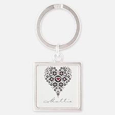 Love Mattie Square Keychain