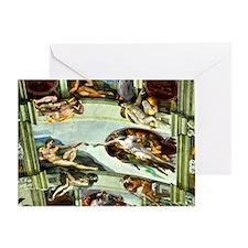 Sistine Chapel Ceiling Greeting Card