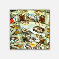 "Sistine Chapel Ceiling Square Sticker 3"" x 3"""