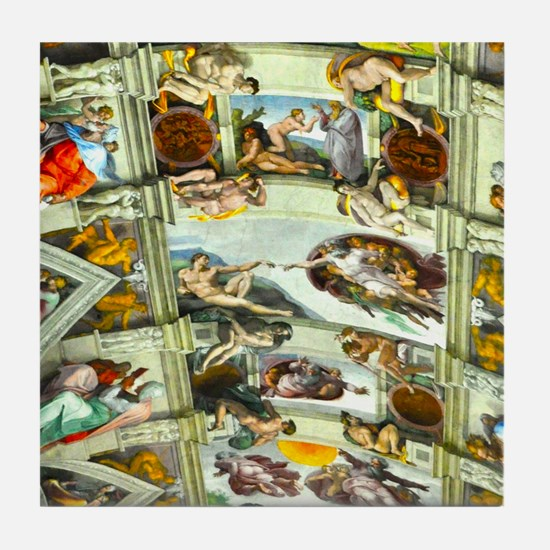 Sistine Chapel Ceiling Tile Coaster