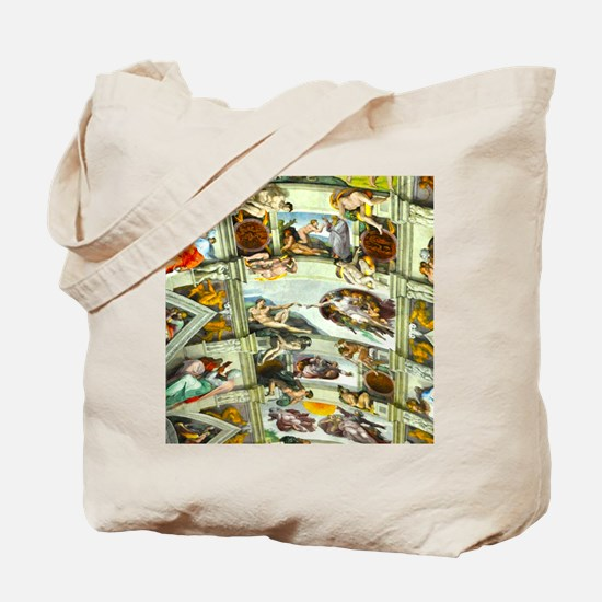 Sistine Chapel Ceiling Tote Bag