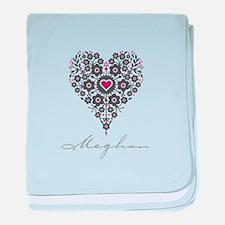 Love Meghan baby blanket