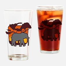 elefant Drinking Glass