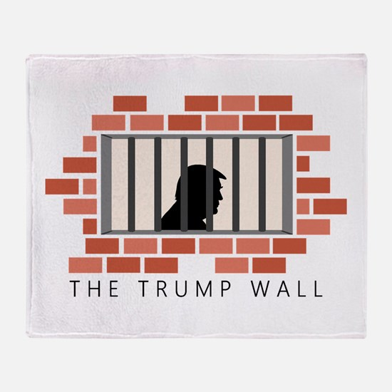 The Trump Wall Throw Blanket