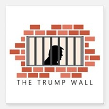 """The Trump Wall Square Car Magnet 3"""" x 3"""""""