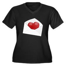 Heart Envelope Plus Size T-Shirt