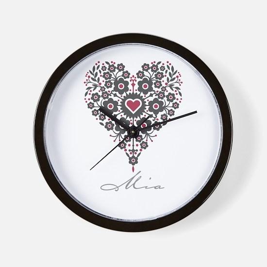 Love Mia Wall Clock