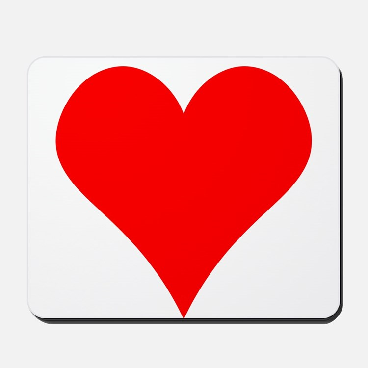 Simple Red Heart Mousepad