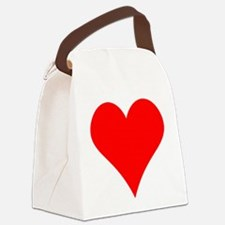 Simple Red Heart Canvas Lunch Bag