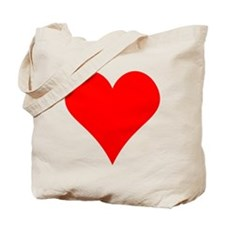 Simple Red Heart Tote Bag