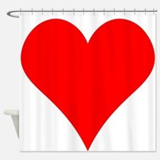 Simple Red Heart Shower Curtain