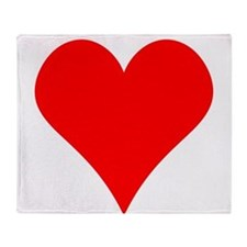 Simple Red Heart Throw Blanket