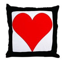 Simple Red Heart Throw Pillow
