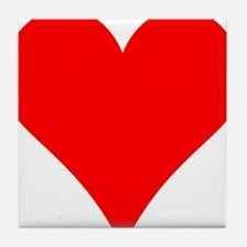 Simple Red Heart Tile Coaster