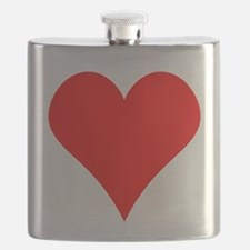 Simple Red Heart Flask