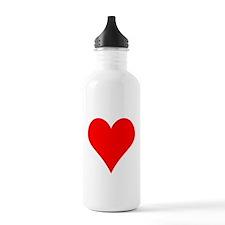 Simple Red Heart Water Bottle