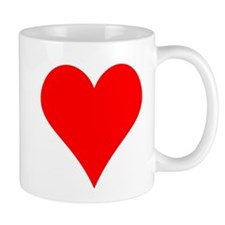 Simple Red Heart Mug