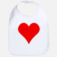 Simple Red Heart Bib