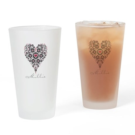 Love Millie Drinking Glass