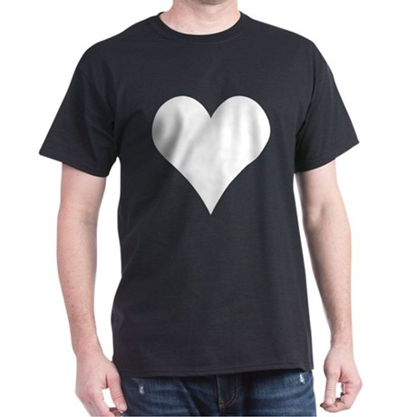 Simple White Heart T-Shirt
